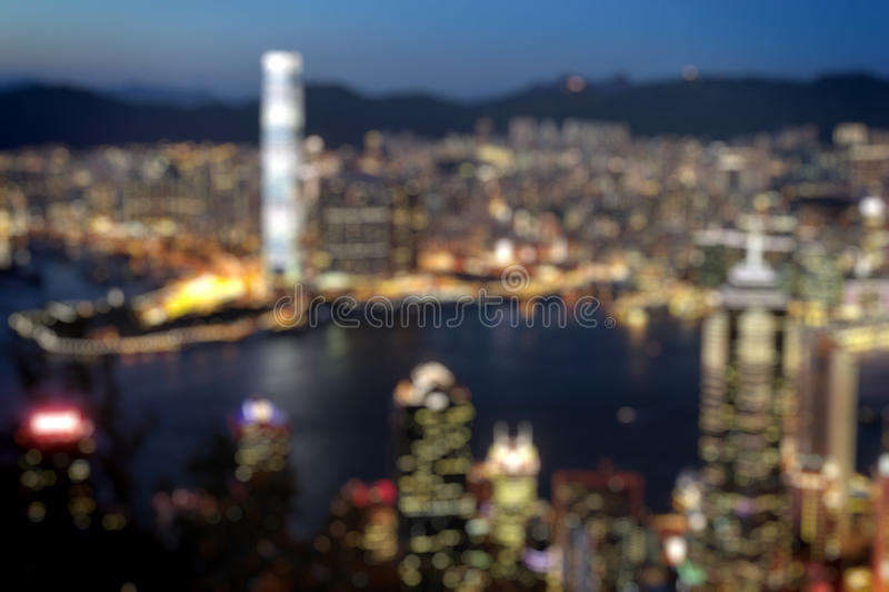 Blured lighhts από μέγιστη Βικτώρια, Χονγκ Κονγκ στοκ φωτογραφία με δικαίωμα ελεύθερης χρήσης