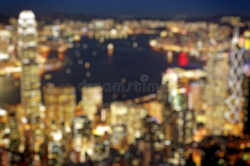 Blured lighhts από μέγιστη Βικτώρια, Χονγκ Κονγκ στοκ εικόνα με δικαίωμα ελεύθερης χρήσης