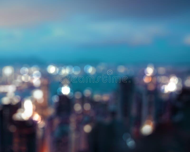 Blured lighhts από μέγιστη Βικτώρια, Χονγκ Κονγκ στοκ φωτογραφίες με δικαίωμα ελεύθερης χρήσης