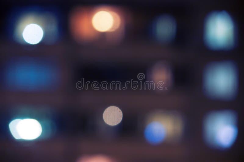Blured lighhts σε ένα κτήριο στοκ εικόνες
