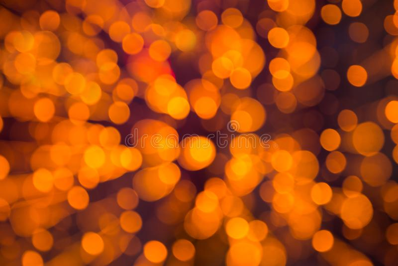 Blured orange christmas lights royalty free stock photos