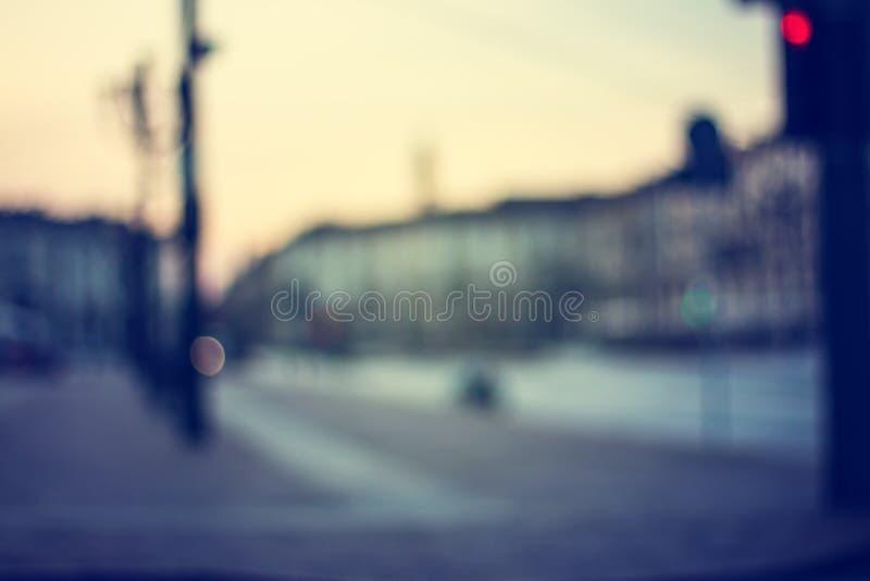 Blured tänder solnedgånggatan av Torino italy fotografering för bildbyråer
