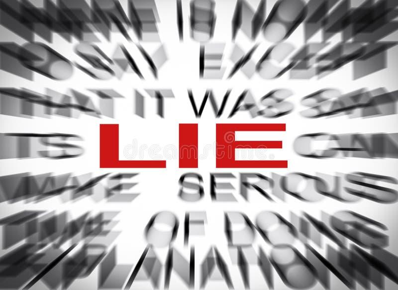 Blured tekst z ostrością na kłamstwie obraz royalty free