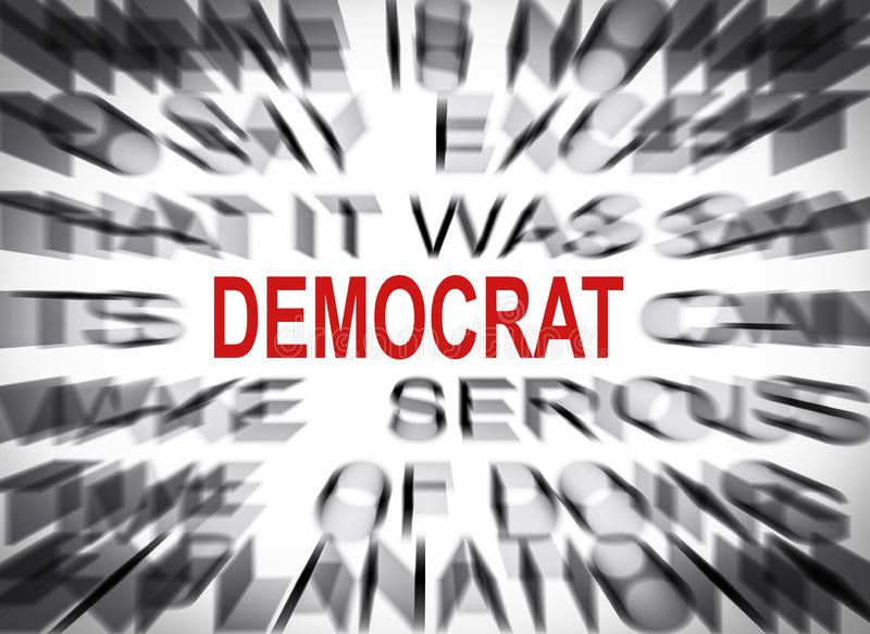Blured text with focus on DEMOCRAT royalty free stock images