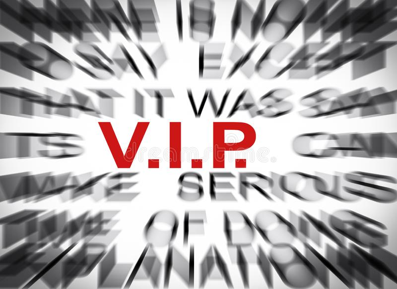 Blured text with focus on VIP royalty free stock image