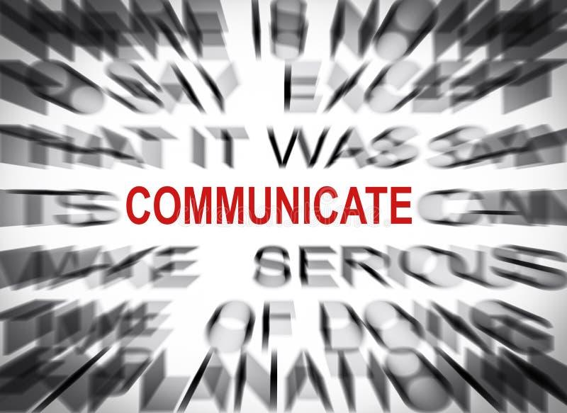 Blured-Text mit Fokus auf COMMUNICATE stockfotos