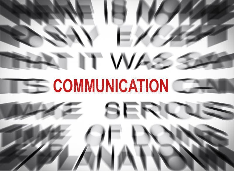 Blured-Text mit Fokus auf KOMMUNIKATION stockfoto