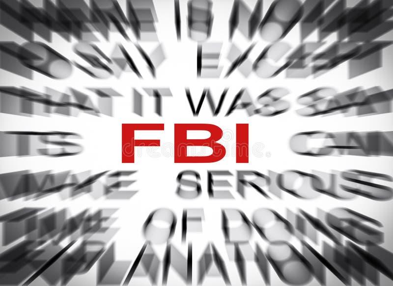 Bluredtekst met nadruk op FBI stock afbeeldingen