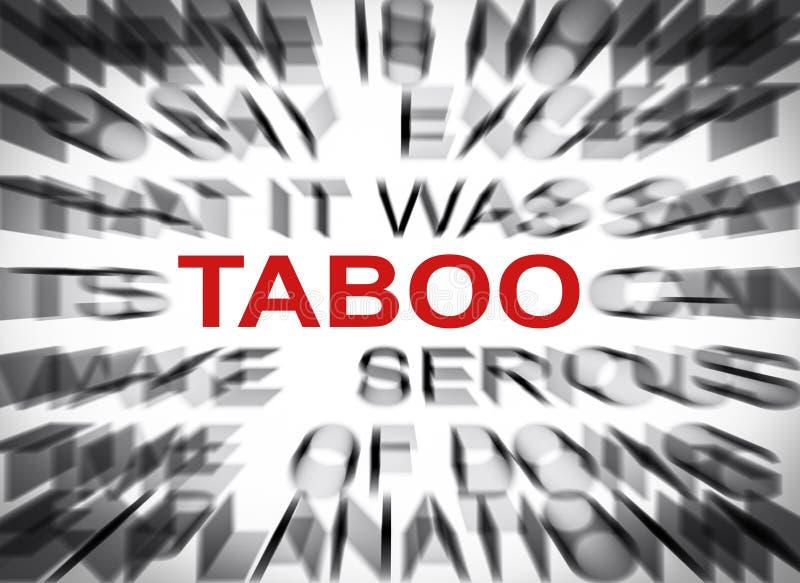 Bluredtekst met nadruk op TABOE royalty-vrije stock afbeeldingen