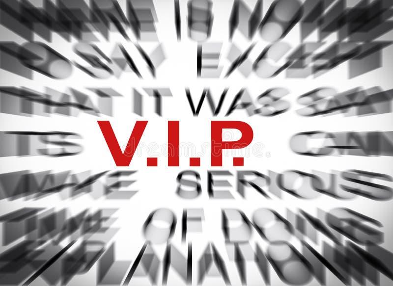 Bluredtekst met nadruk op VIP royalty-vrije stock afbeelding