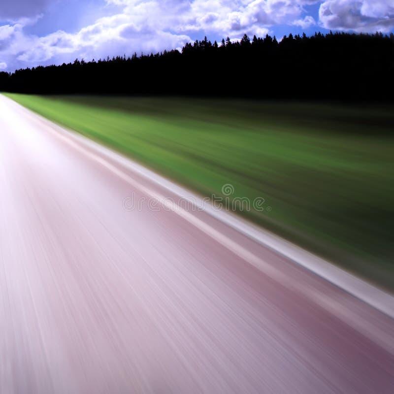 blurhuvudvägrörelse royaltyfri bild