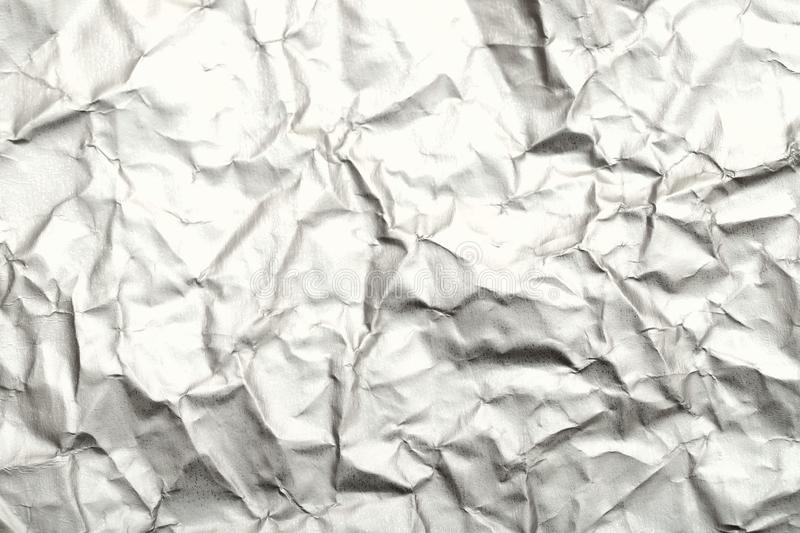 Blurred abstract background of crumpled white paper surface. royalty free stock photo