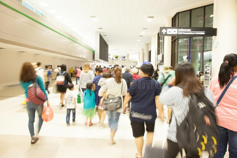 Blurred abstract background of the departure hall pathway with d royalty free stock photography