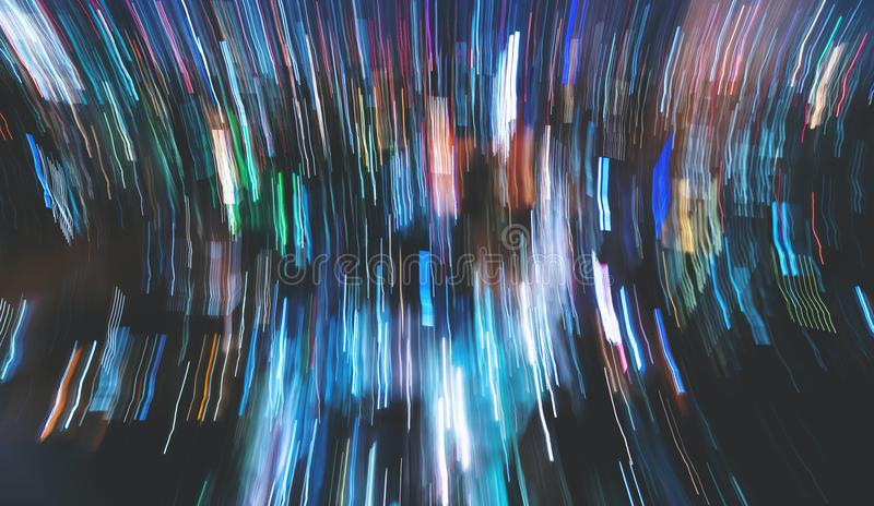 Blurred abstract bokeh background of the city stock illustration