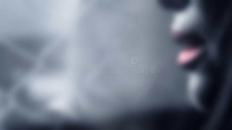 Blurred, Abstract of a dark tone woman on the wire and wall background stock images