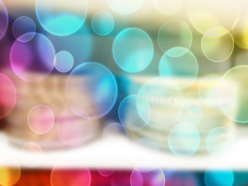Blurred abstract store of shopping mall as background, bokeh vector illustration