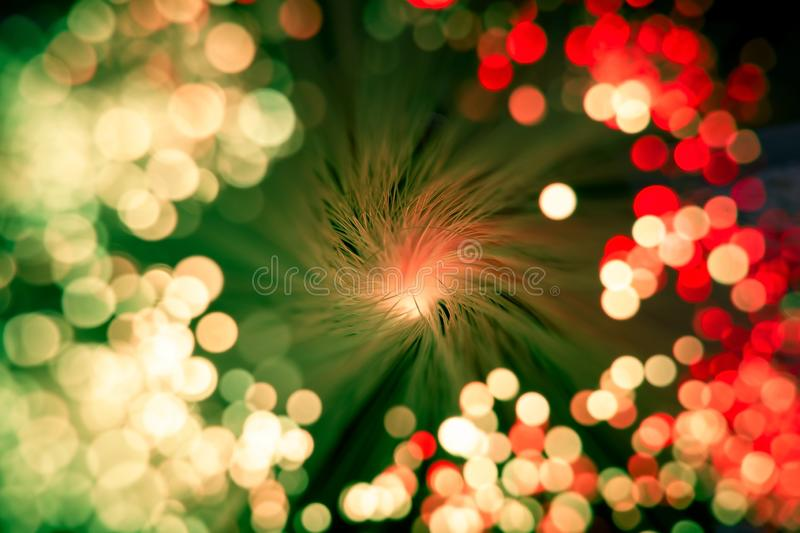 Blurred vibrant vintage red and green background with shiny bokeh. Blurred abstract vibrant vintage red and green background with shiny bokeh royalty free stock photography