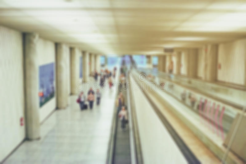 Blurred airport view. royalty free stock image