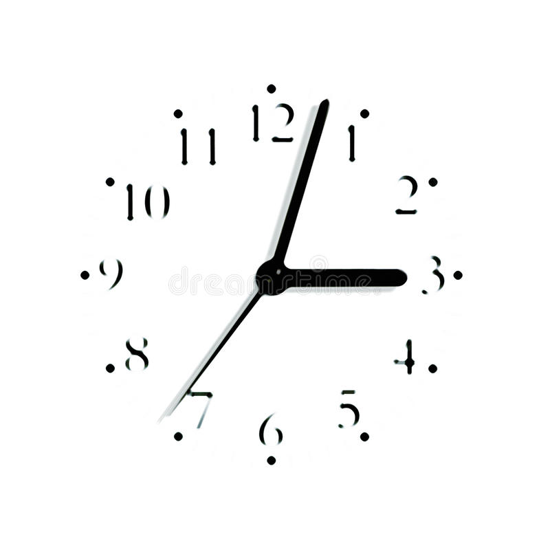 Download Blurred Analogue Clock Face Dial Silhouette Stock Photo - Image: 15031460