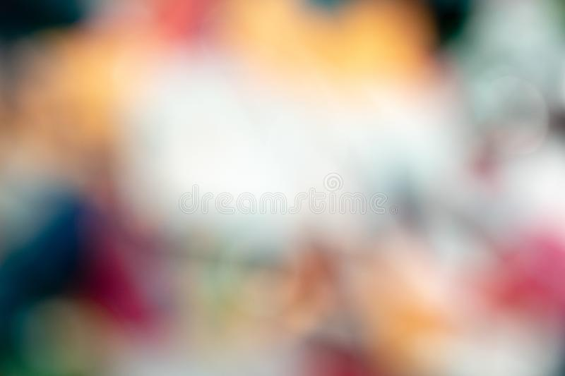Blurred background of bright colored blocks stock images