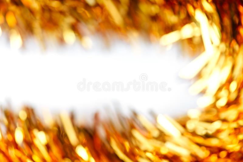 Blurred background of Christmas garland lights. Warm and sparkle royalty free stock photography