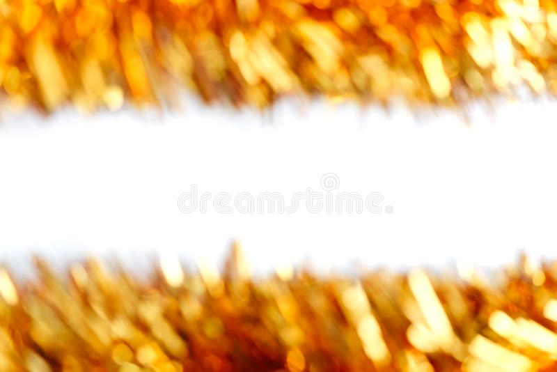 Blurred background of Christmas garland lights. Warm and sparkle stock photos