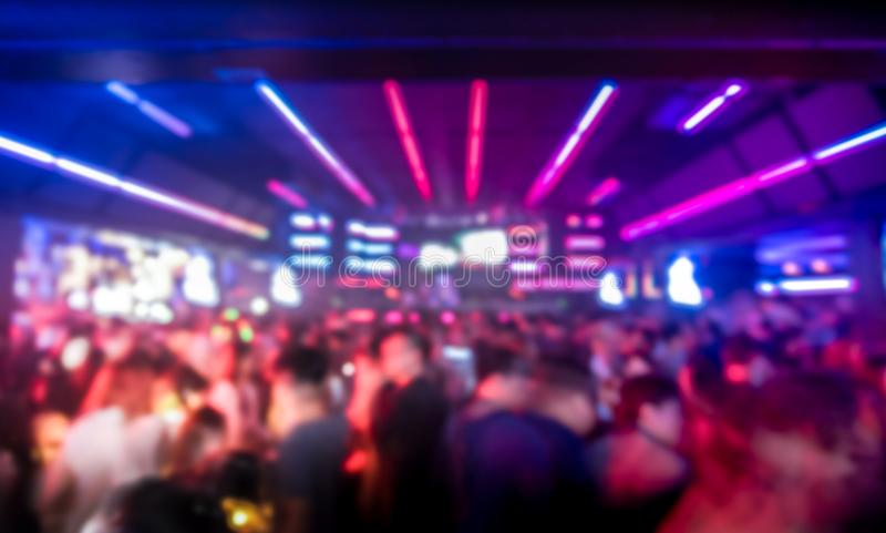 blurred background of people in nightclub royalty free stock images