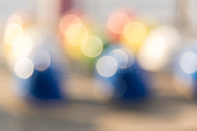 Blurred Background of Safety hardhat Helmet Engineering Construction worker equipment. Hard hat protecting head for construction royalty free stock image