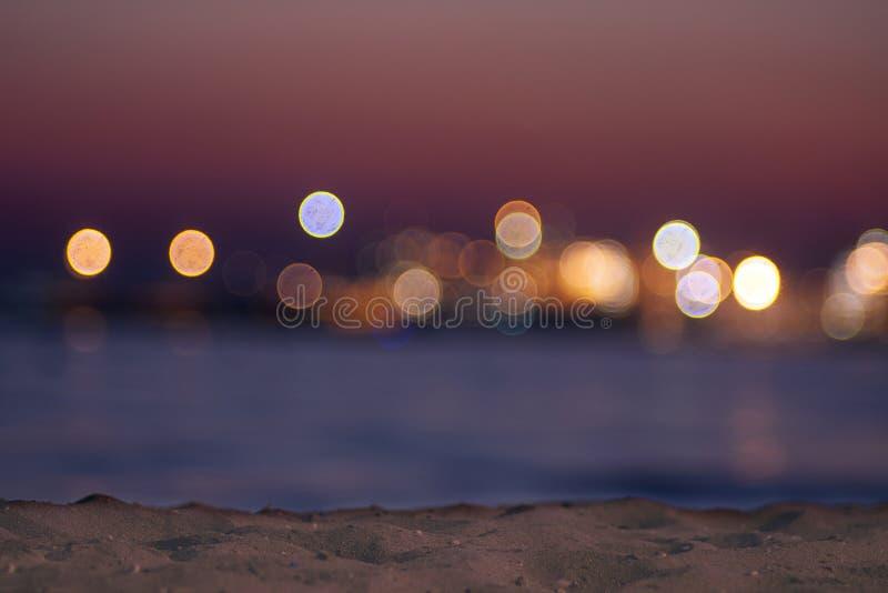 Blurred background of seaside sunset view - Image. Seaside Wallpaper stock image