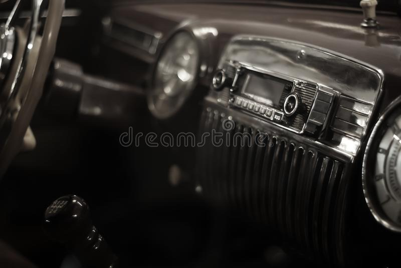 Background - interior detail of a vintage car royalty free stock images