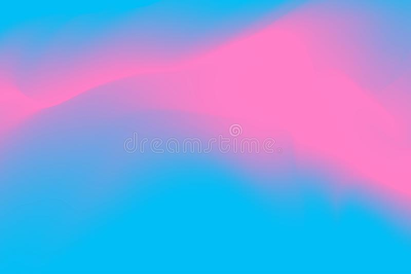 Blurred blue and pink pastel colors soft wave colorful effect for background abstract, illustration gradient in water color art royalty free illustration