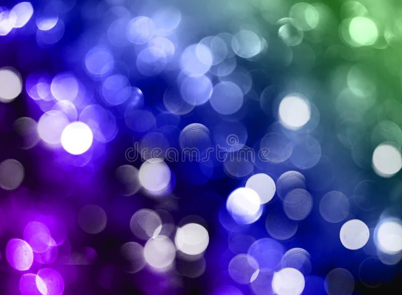Blurred bokeh background, blue, green, lilac, sparkle, glitter, stock illustration