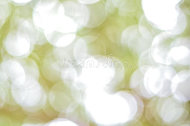 Blurred bokeh for background, Concept full frame circle. stock photo