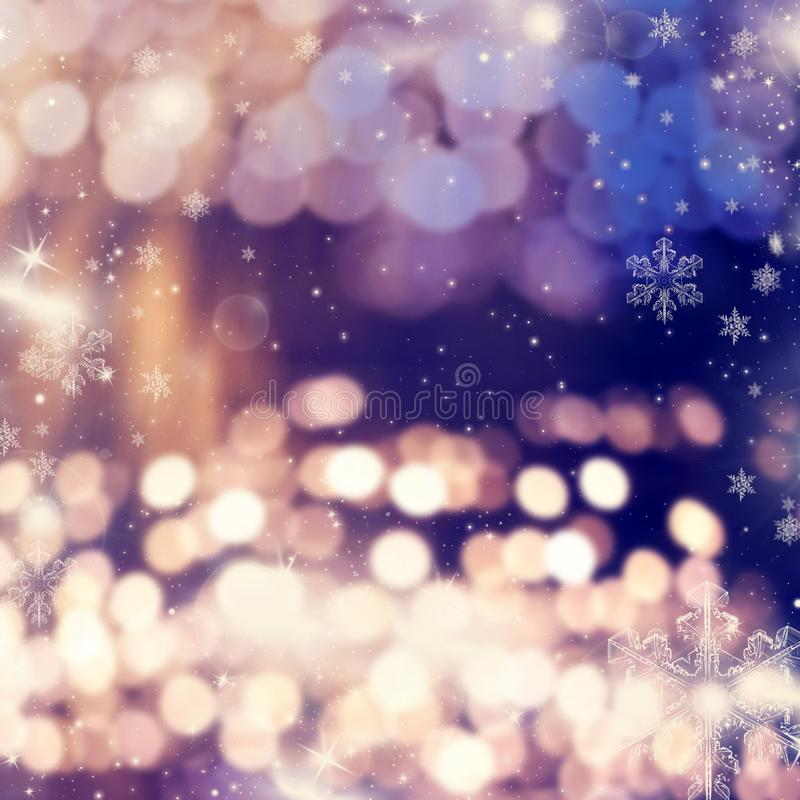 Blurred bokeh of Christmas lights. Background, abstract, bright, holiday, glow, celebration, shiny, xmas, glitter, design, decoration, festive, shine, color royalty free stock image