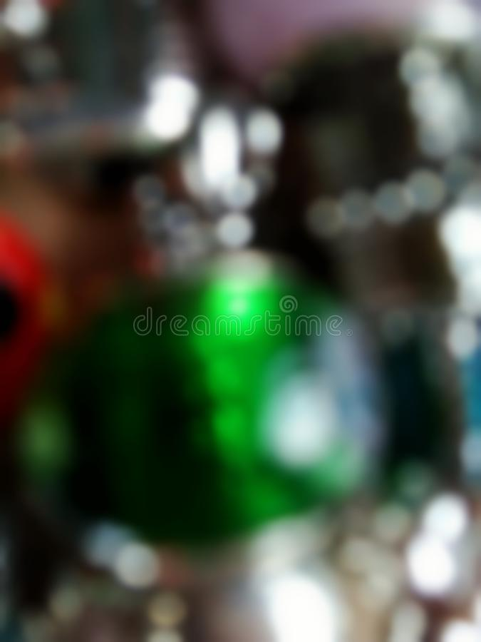 Blurred and bokeh from colorful beads stock photography