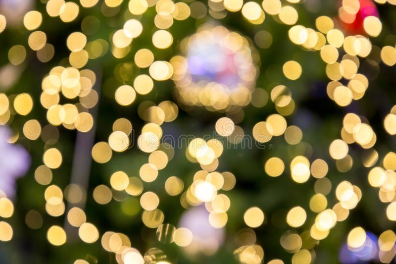 Blurred bokeh light background, Christmas and New Year holidays background. stock images