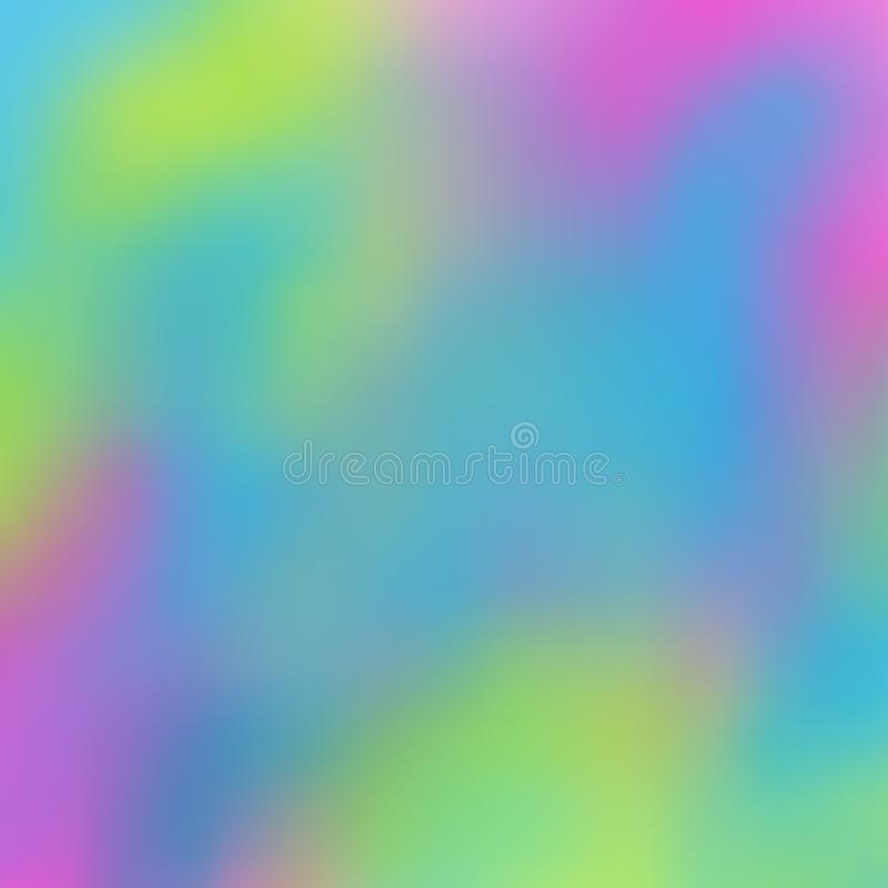 Blurred bright rainbow background. Azure, amaranth, pear-green color spots flow into each other. Excellent as a background for the production of any printed vector illustration