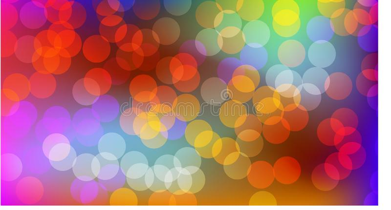 Blurred bubble bokeh look for background royalty free illustration