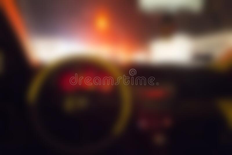 Blurred car interior royalty free stock photos