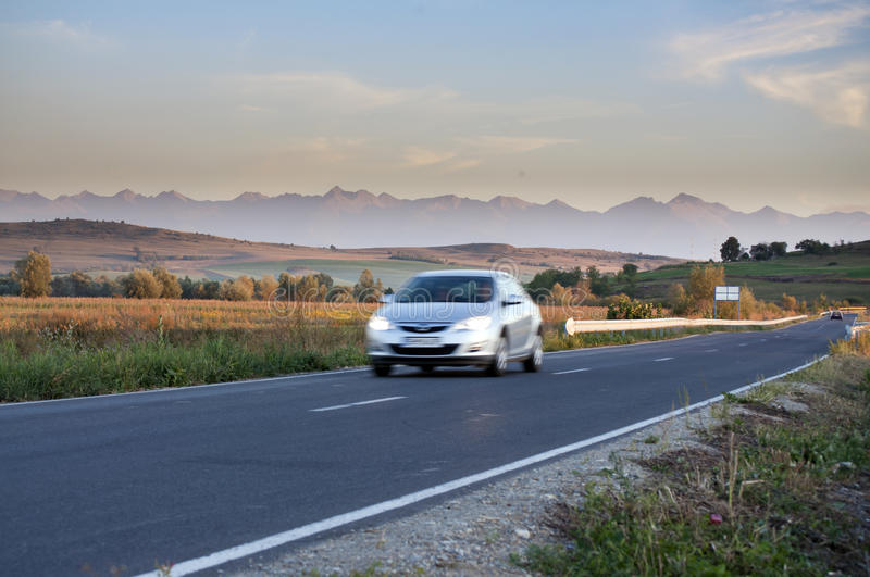 Download Blurred Car Traveling On Road Stock Photo - Image: 26602840