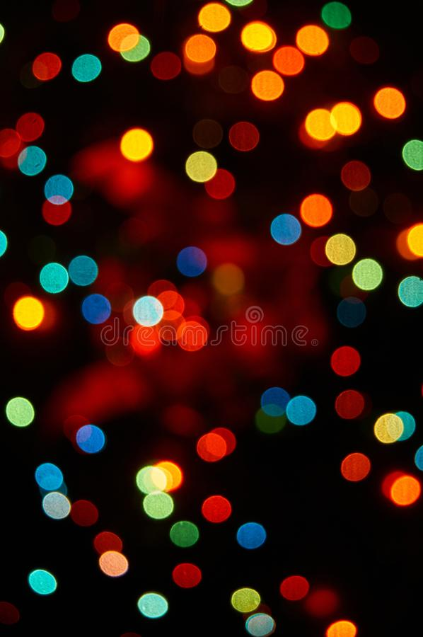 Blurred Christmas and New Year Holidays Background with bokeh.  royalty free stock images