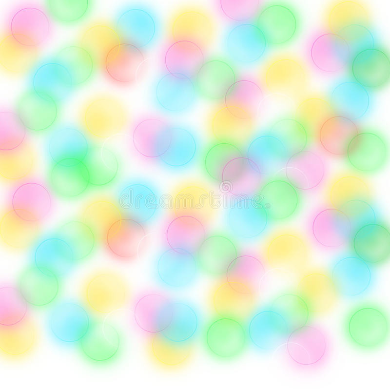 Blurred circles white background