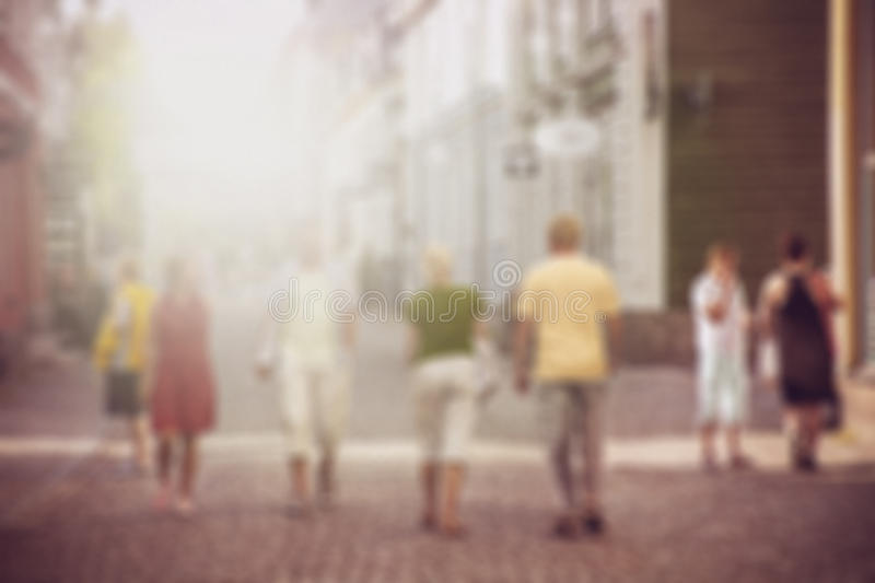 Blurred city background. Blurred city travel background street with crowd stock image