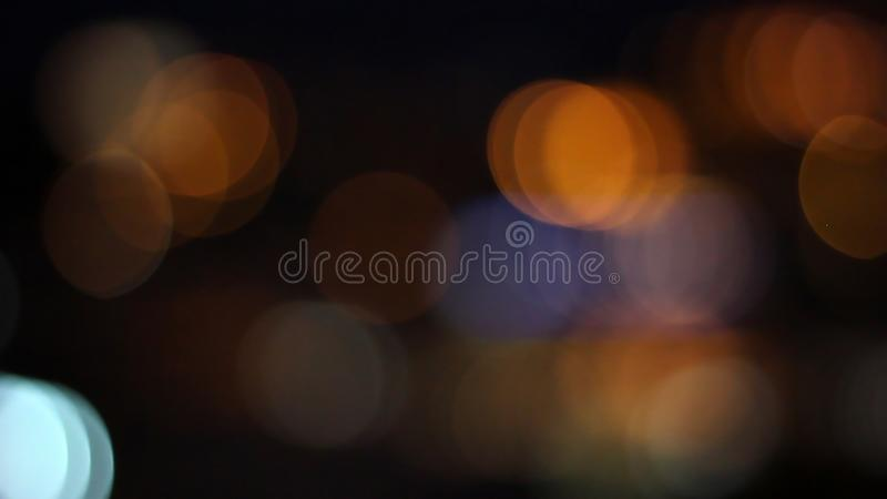 Blurred city lights. Abstract background stock image