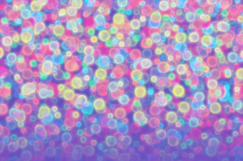 Blurred coloreó bolas foto de archivo libre de regalías