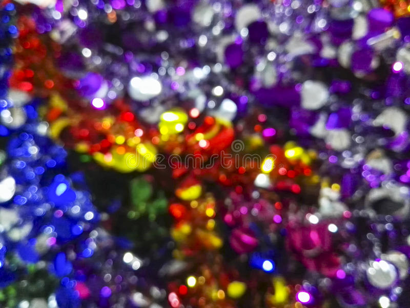 Blurred colorful tinsel for Fastival decoration royalty free stock images
