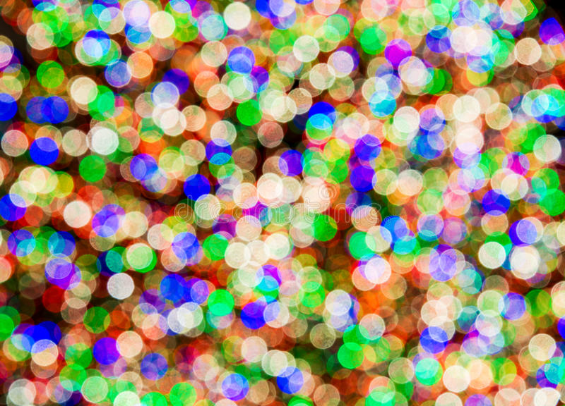Blurred colourful lights stock image