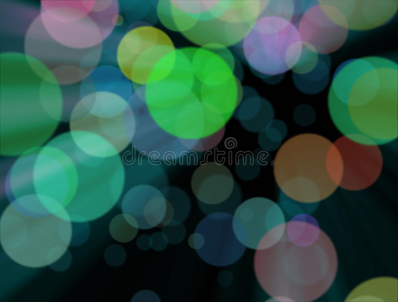 The blurred colourful lights at the background stock illustration