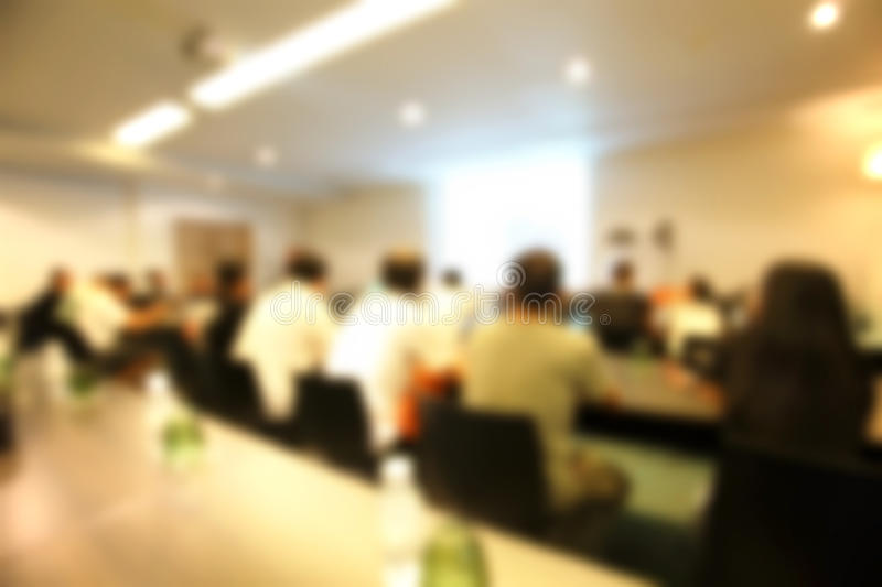 Blurred conference Room. Out of focus blurred conference Room royalty free stock image