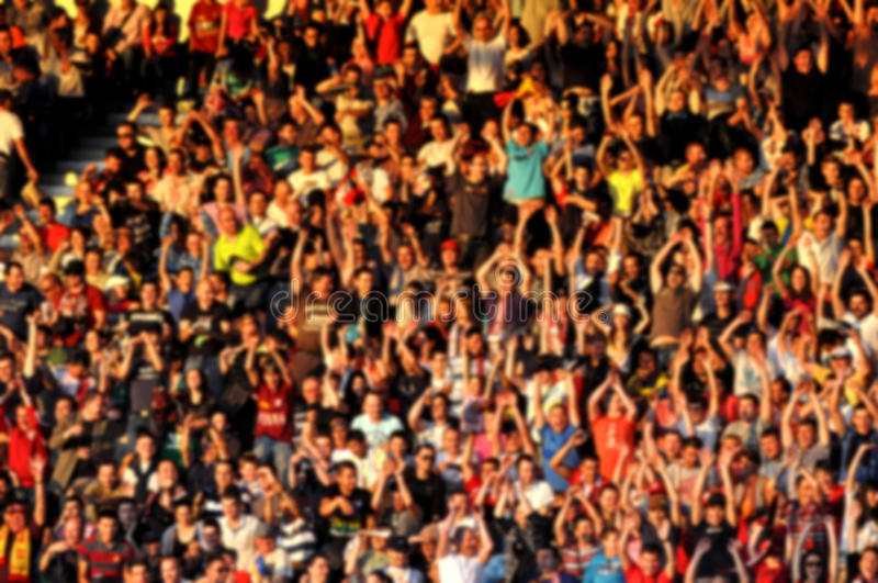Blurred crowd of people in a stadium royalty free stock image